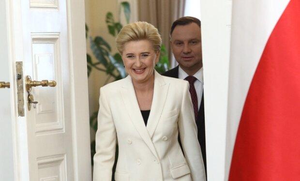 Agata Duda i Andrzej Duda. Źródło: pomponik.pl