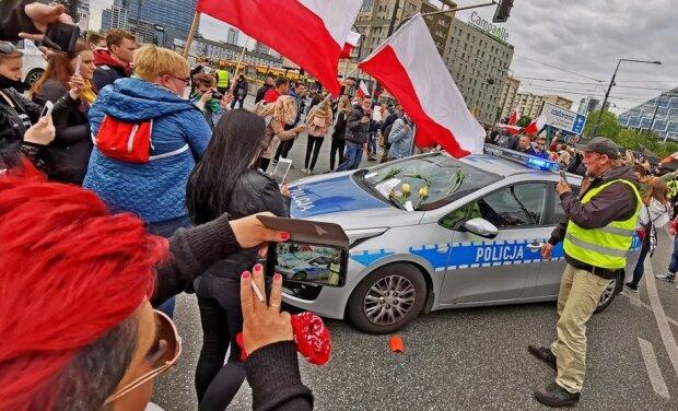 Strajk w Wraszawie/screen Youtube @Reporter TV