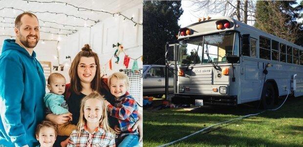 Zamieszkali wraz z 6 dzieci w autobusie. Jak wygląda życie w tak nietypowym domu