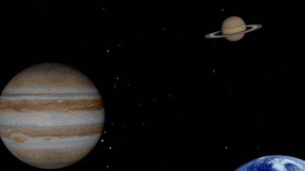 Jowisz i Saturn/ YouTube @Zmiany na Ziemi