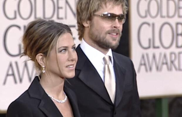 Jennifer Aniston i Brad Pitt. Źródło: youtube.com