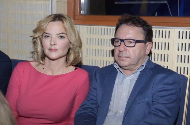Zbigniew Zamachowski, Monika Zamachowska. Źródło: Youtube GOSSIP TV