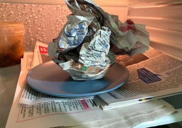 wkładać mokrą gazetę do lodówki, screen Google