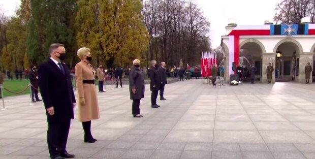 Pierwsza Dama zniknęła z uroczystości! / YouTube: TVP Info