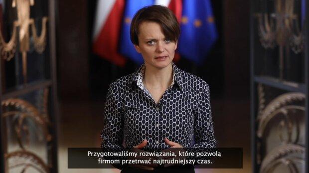Jadwiga Emilewicz. Źródło: Youtube Kancelaria Premiera