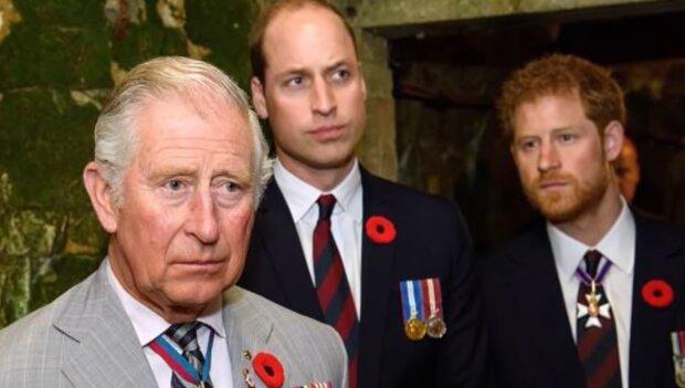 Książę Karol, Harry, William. Źródło: Youtube Dla Ciekawskich