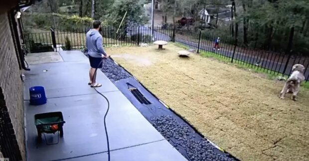 Pewien mężczyzna przebywał w swoim ogrodzie. Kiedy zobaczył smutną kobietę, nie zastanawiał się ani chwili! Wszystko zarejestrowały kamery