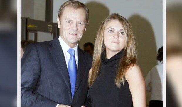 Kasia Tusk, Donald Tusk. Źródło: Youtube Wiadomości