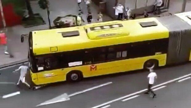 Wypadek w Katowicach/Youtube @Z NETA