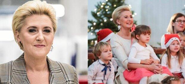 Agata Duda urzekła mikołajkową stylizacją. Aż trudno odezwać wzrok od żony prezydenta