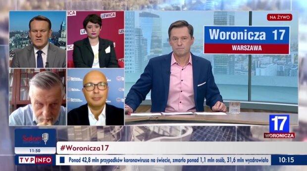 """TVP Info, """"Woronicza 17"""". Źródło: Youtube TVP Info"""