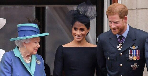 Meghan, Harry i królowa Elżbieta. Źródło: people.com