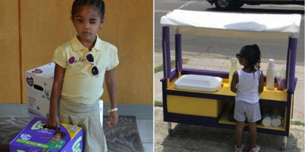 3-letnie dziecko sprzedaje lemoniadę, aby kupić pieluchy dla potrzebujących matek
