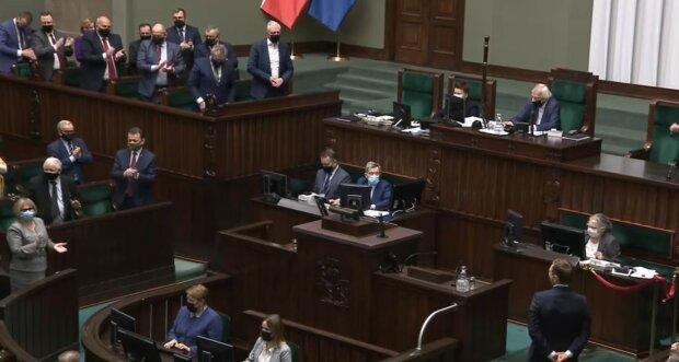 Sejm/ screen youtube