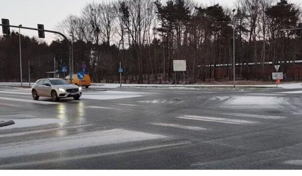 Gołoledź na drogach! / YouTube:  Tylko i Poza Toruń