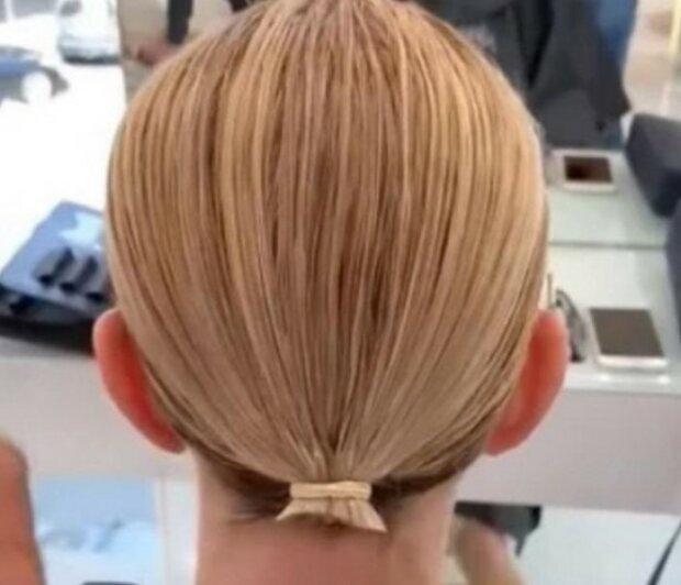 Kobieta o bardzo cienkich włosach, screen Google