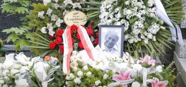 Ostatnie pożegnanie św. pamięci Jerzego Łapińskiego. Na uroczystości pojawiło się wiele gwiazd kina i telewizji. Wzruszające chwile