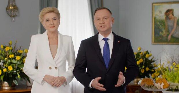 Agata Duda, Andrzej Duda. Źródło: Youtube naTemat.pl