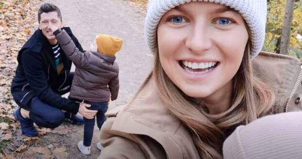 Anna Lewandowska i Robert Lewandowski. Źródło: Youtube Wiadomości