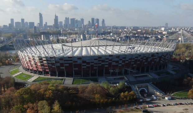 Stadion Narodowy/ YouTube: Polskazdrona.pl