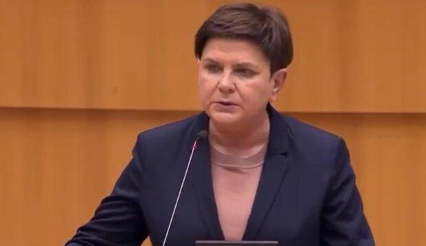 Beata Szydło/ screen YT