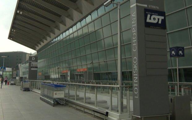 Lotnisko Chopina/ screen z videohttps://tvn24.pl/