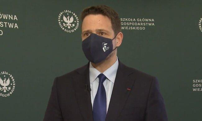 Rafał Trzaskowski. Źródło: Youtube Szkoła Główna Gospodarstwa Wiejskiego w Warszawie