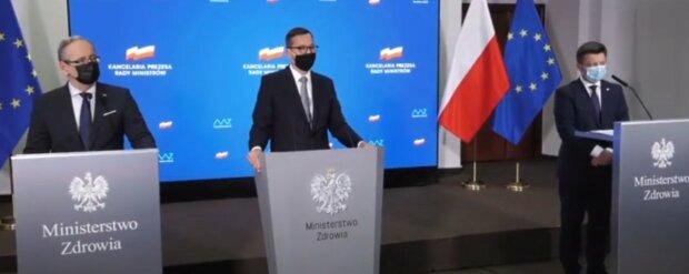 Konferencja prasowa Morawieckiego i Niedzielskiego/Youtube SE