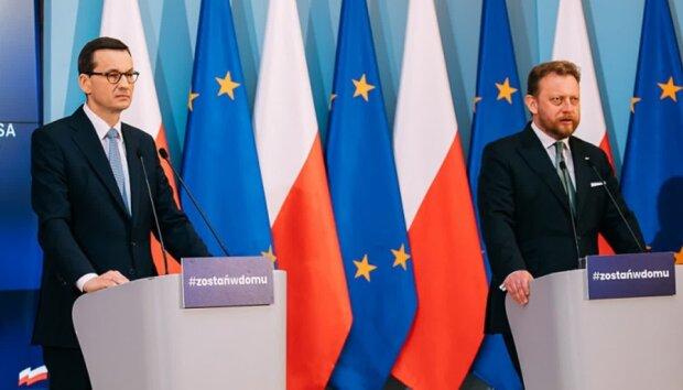 Mateusz Morawiecki i Łukasz Szumowski. Źródło: radio.lublin.pl