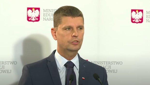 Minister edukacji narodowej - Dariusz Piontkowski / YouTube: Onet News