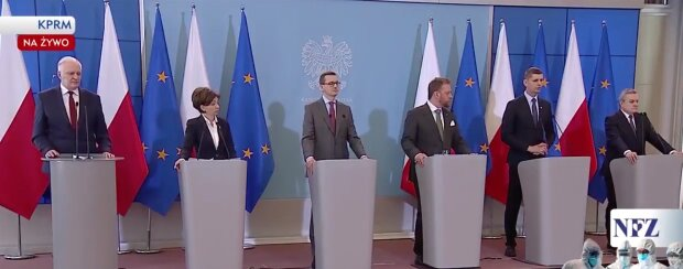 Polski rząd. Screen: YouTube