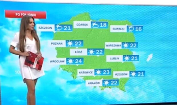 Prognoza pogody w TVP/YouTube @Piękne polskie dziennikarki i prezenterki