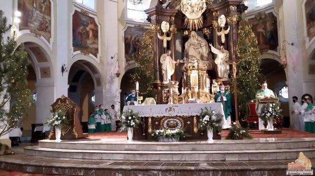 Msza. Źródło: Youtube U św. Anny Katowice - Janów