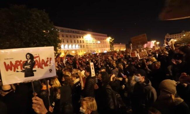 Strajk kobiet. Źródło: Youtube