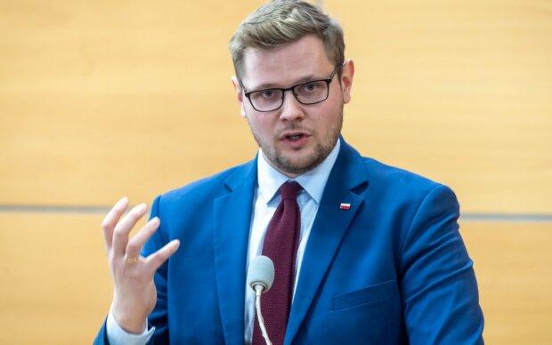 Minister środowiska Michał Woś. Screen: RMF.24