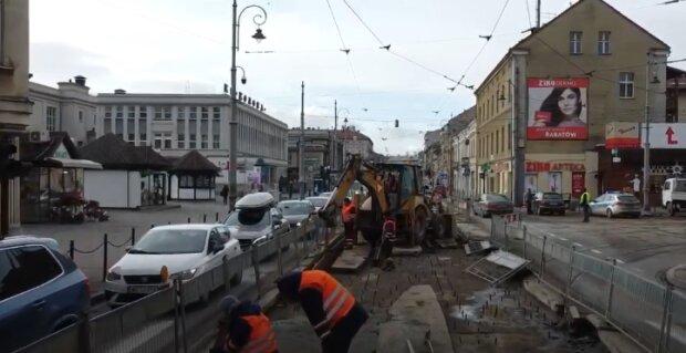 Kraków: prace drogowe utrudniają ruch na drodze
