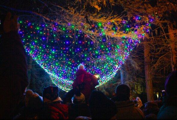 Osowa rozświetlona lampkami świątecznymi. Już stanęła choinka i przybył Św. Mikołaj