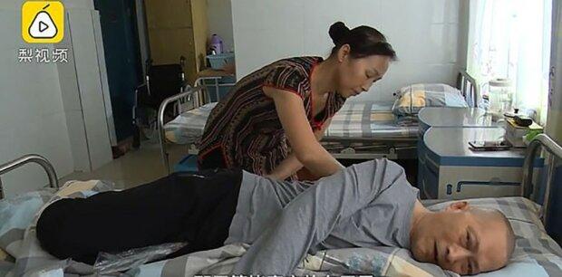 Chińczyk obudzili się po 5-letniej śpiączce. Jego żona opiekowała się nim przez 20 godzin dziennie