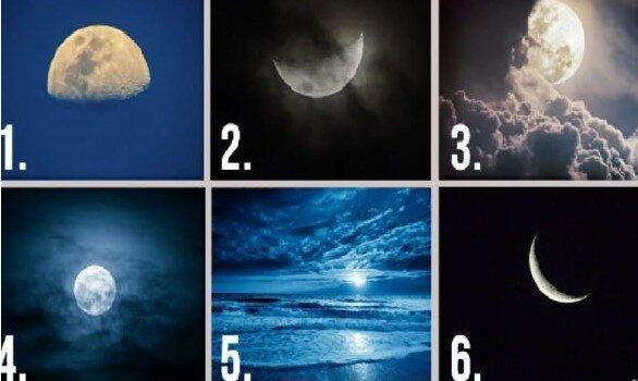 Który księżyc na zdjęciu podoba Ci się najbardziej? Odpowiedź ujawni cechy twojej postaci