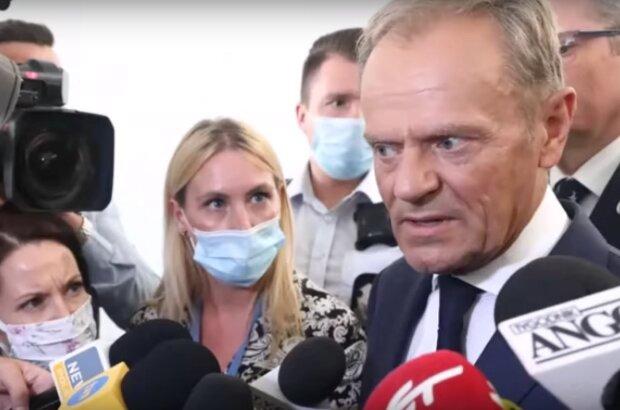 Donald Tusk w ostrych słowach do dziennikarki TVP Info / YouTube:  Niezależny Serwis Wiadomości 2