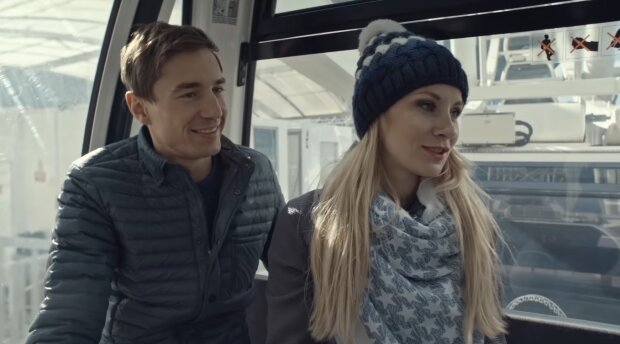 Ewa Bilan-Stoch i Kamil Stoch. Źródło: Youtube Eurosport Polska
