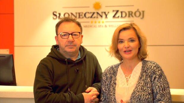 Monika i Zbigniew Zamachowscy. Źródło: Youtube Hotel Słoneczny Zdrój Medical Spa & Wellness