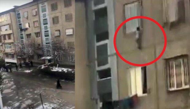Trzylatek wypadł z okna na czwartym piętrze. W akcji ratunkowej uczestniczyli sąsiedzi