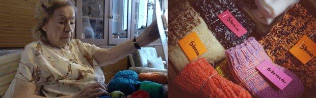 Pani Stefania dzierga skarpetki na drutach dla potrzebujących. 95-latka ma ostatnie życzenie