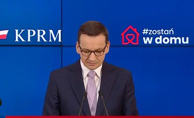 Premier Mateusz Morawiecki. Screen:YouTube