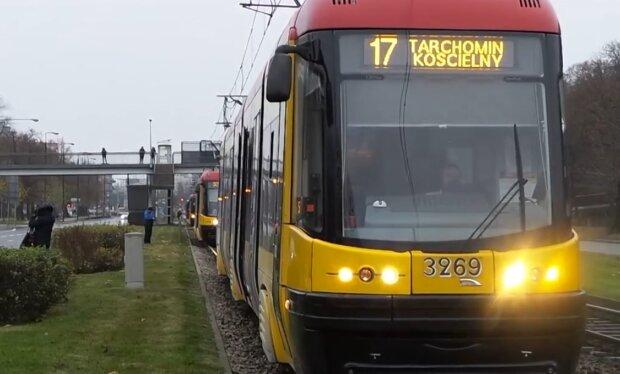 Tramwaj, Warszawa/ screen z videohttps://tvn24.pl/