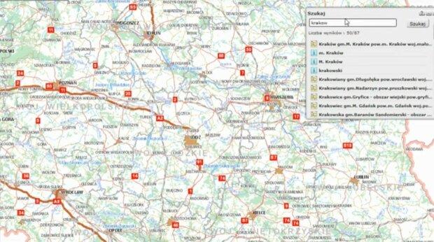 Mapa Polski/Youtube @GUGiKPL