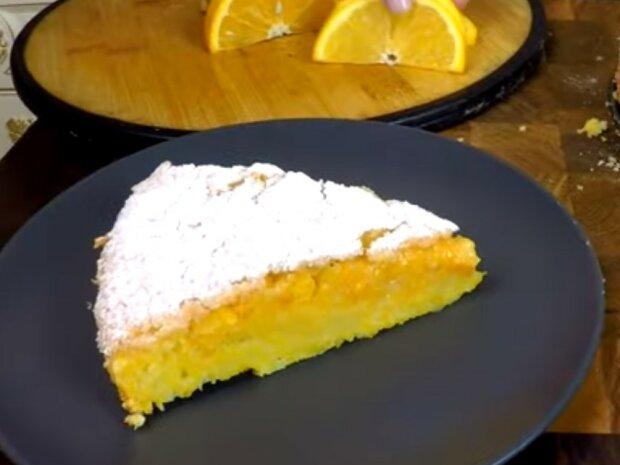 ciasto z dynią i pomarańczami, screen YT