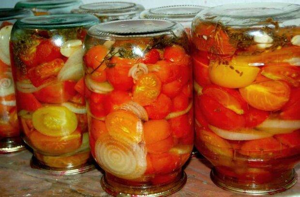 pomidory na zimę, screen YT
