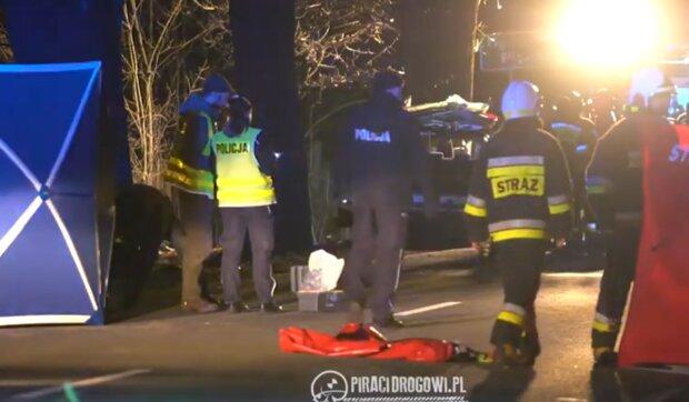 Wypadek w Ligocie Prószkowskiej/ YouTube @Piraci Drogowi